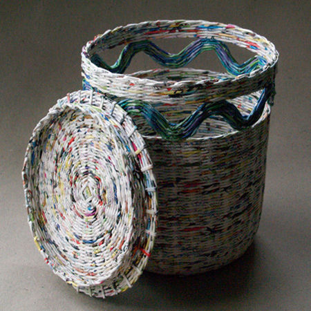 36 Tutorials For Weaving A Basket Out Of Newspaper Guide