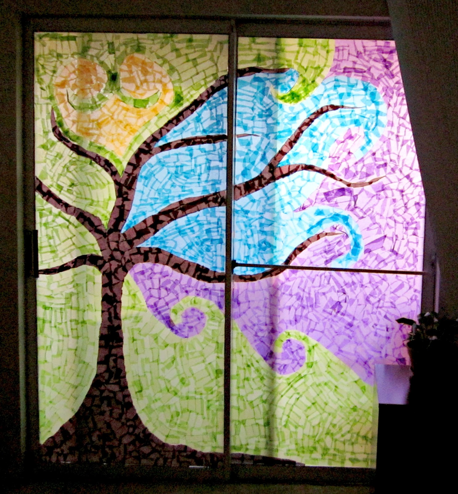 Tissue Paper Stained Glass Craft