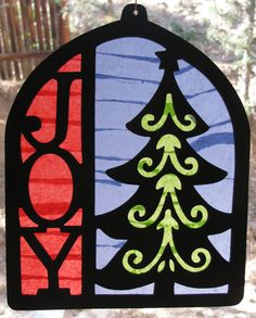 Christmas Window Stained Glass