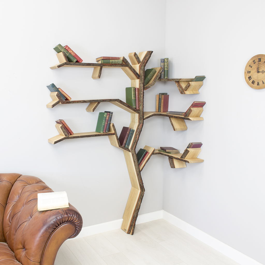 How To Make A Corner Bookshelf DIY Methods Guide Patterns - Corner tree bookshelf