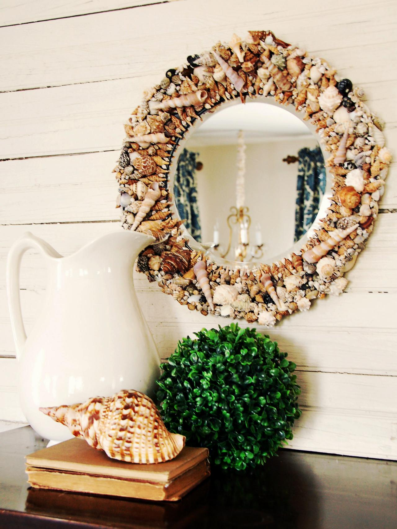 Small round mirrors for crafts - Small Round Craft Mirrors 23 Striking Shell Mirror Designs With Tutorials