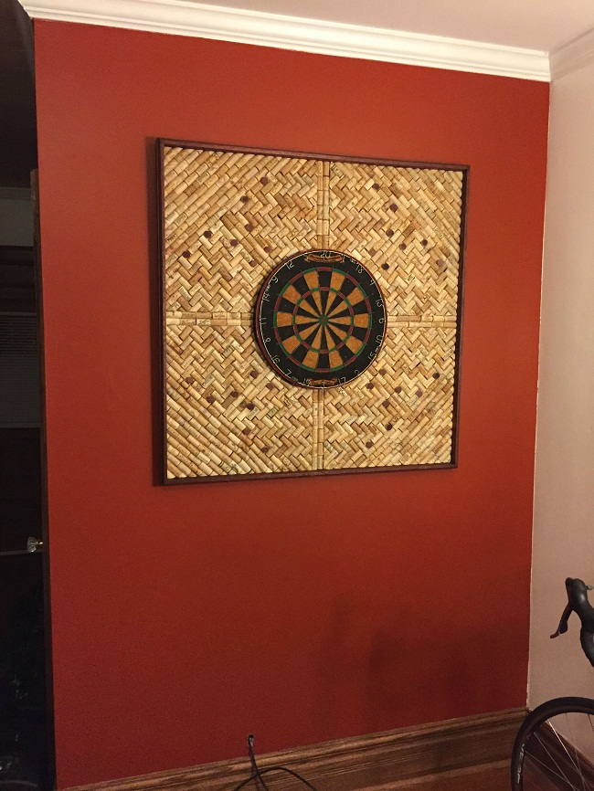 Wine Cork Dart Board Dartboard Backer