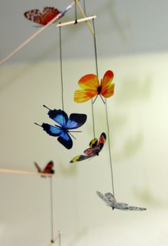 25 Easy DIYs To Make A Butterfly Mobile