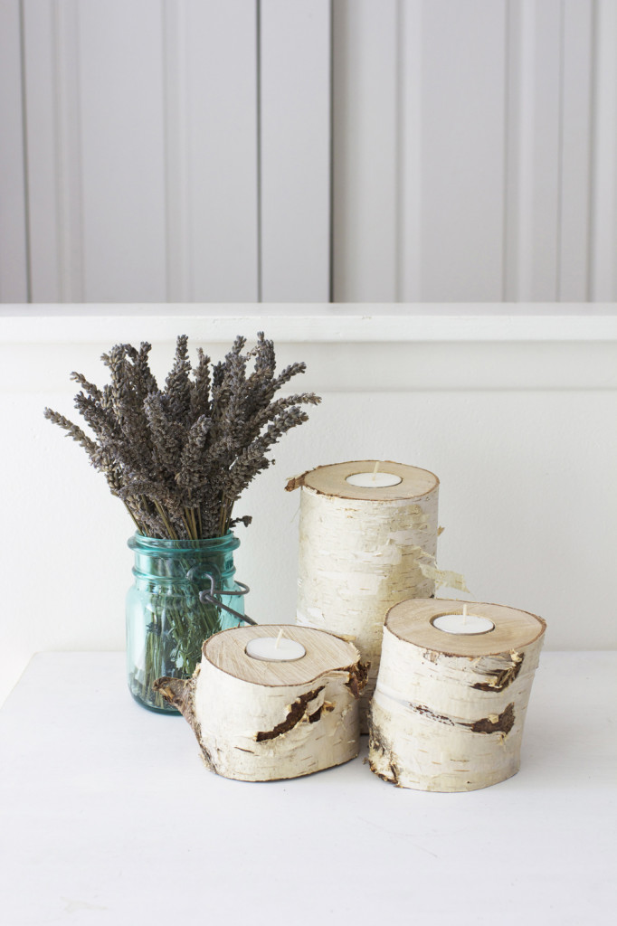 15+ DIY Birch Wood Log Candle Holders | Guide Patterns