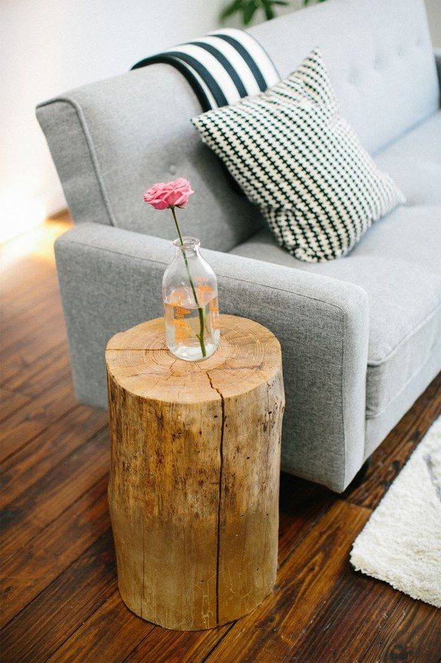 11 Tutorials To Build A Log Coffee Table