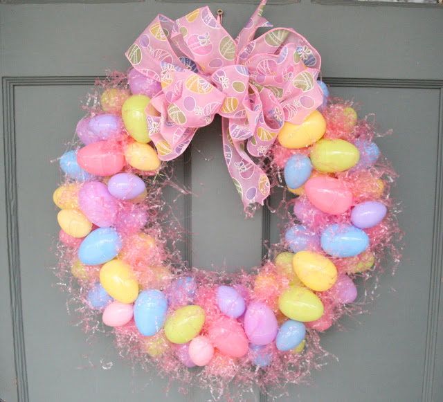 easter ribbon wreath - Easter Wreaths