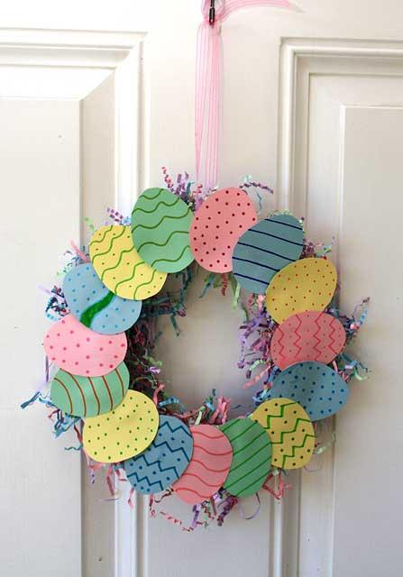 Easter Wreath With A Paper Plate