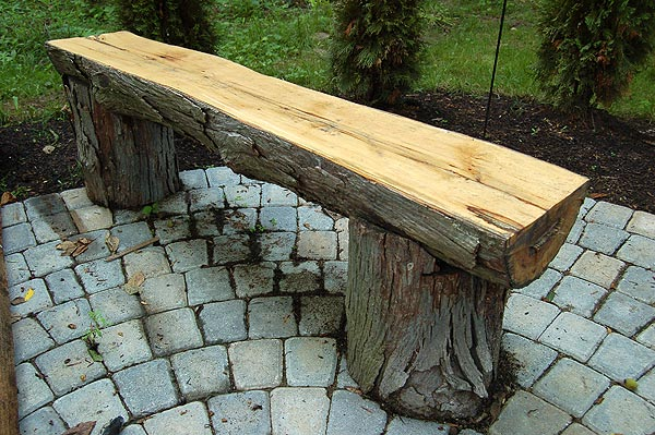 20 plans to build a rustic bench from logs guide patterns for Rustic outdoor bench plans