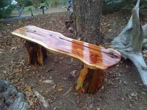 Log Bench Fire Pit