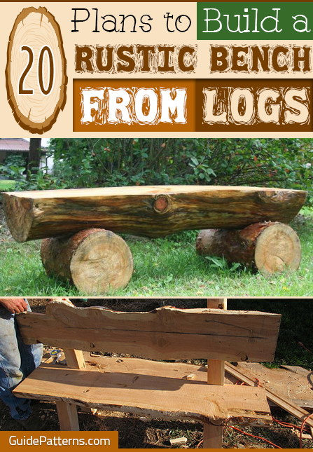 Peachy 20 Plans To Build A Rustic Bench From Logs Guide Patterns Download Free Architecture Designs Embacsunscenecom