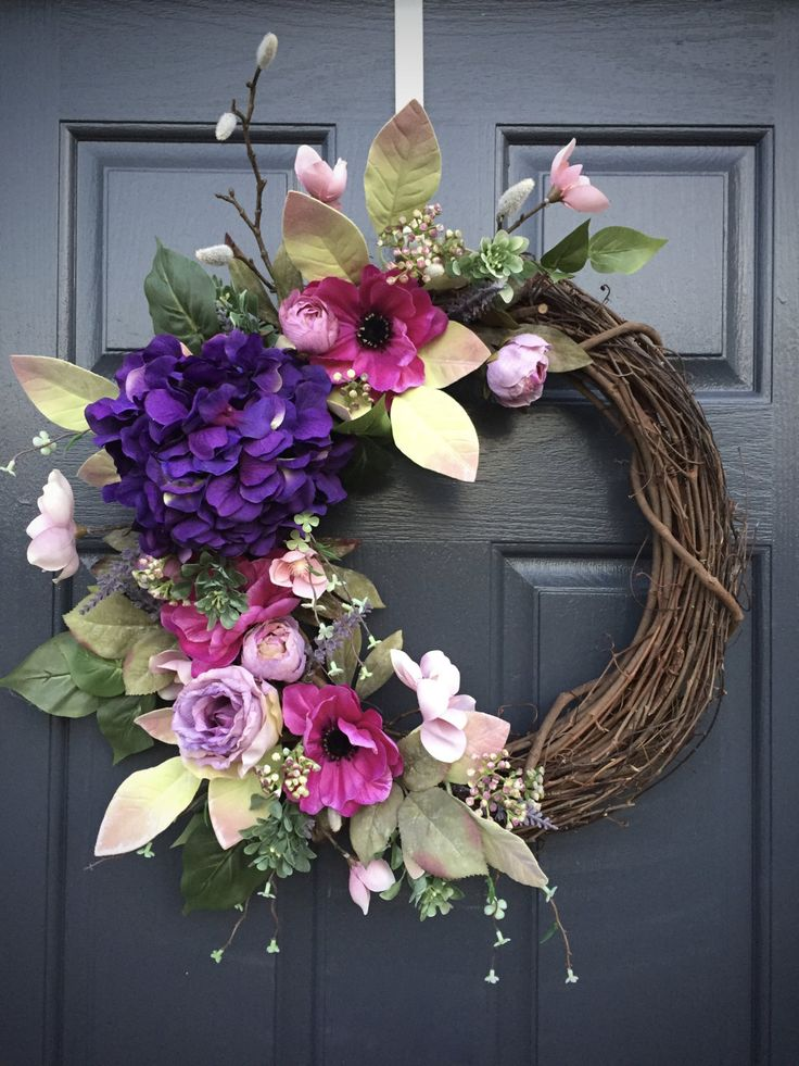 39+ DIY Spring Wreaths For The Front Door That You Can Make