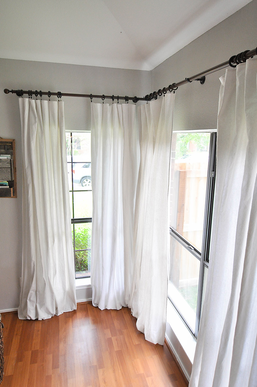 Dye drop cloth curtains for Curtain making service
