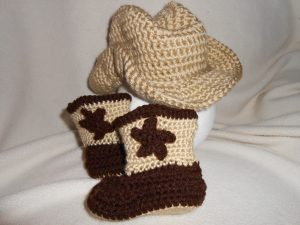 e92b01a6832b6 Crochet Baby Cowboy Hat and Boots Pattern Free