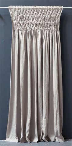 Drop Cloth Smocked Curtain