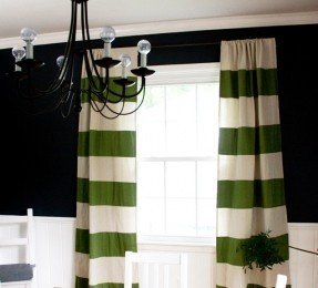 Drop Cloth Striped Curtains