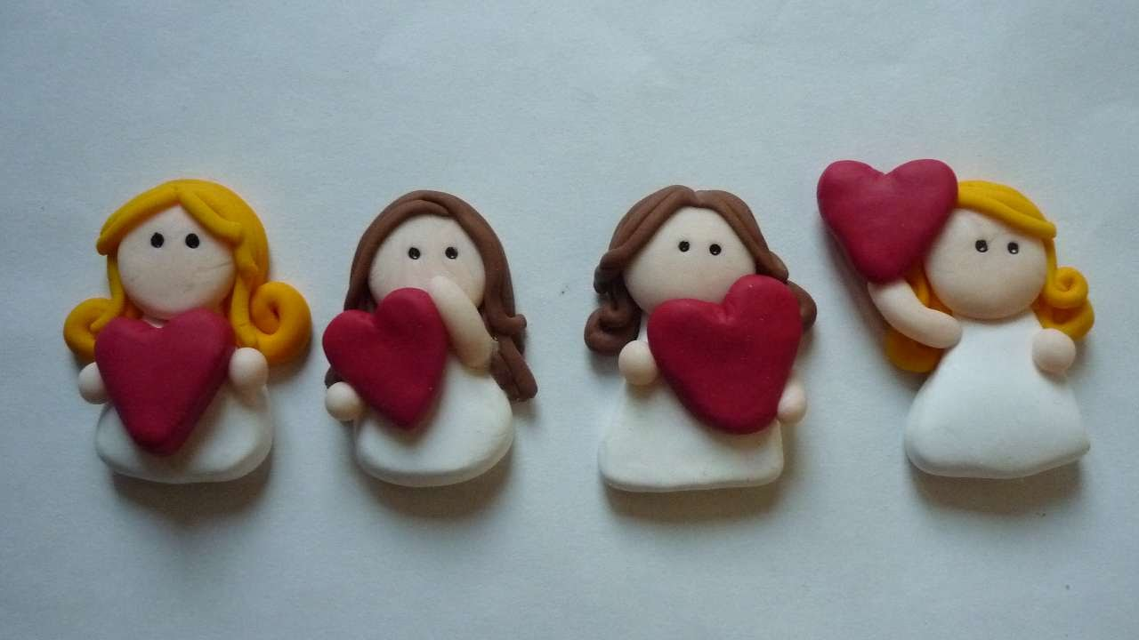 41 diys to make angel christmas ornaments guide patterns for Clay making ideas