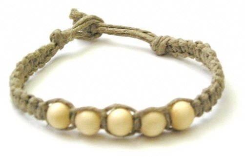Hemp And Bead Bracelet