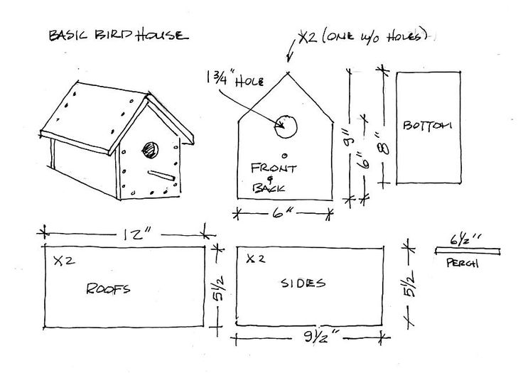 38 free birdhouse plans guide patterns for Simple diy birdhouse plans