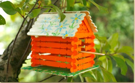 Crafting And Painting Birdhouses