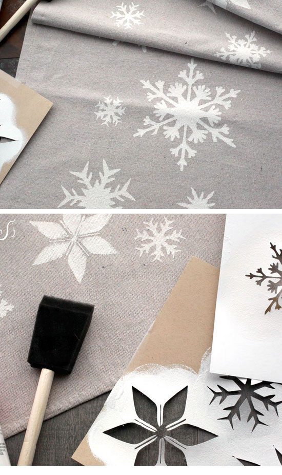 Silver Christmas Table Runner