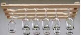 Wood Wine Glass Rack
