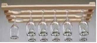 Wood Wine Gl Rack