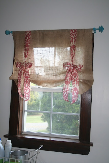 Burlap Valances For Windows : Diys to make burlap curtains guide patterns