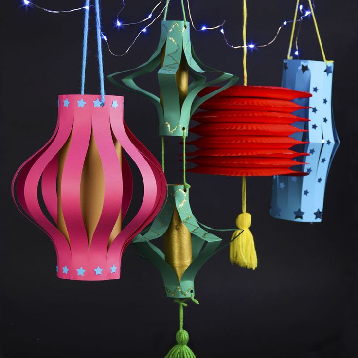 paper lanterns craft ideas diy lanterns guide patterns 5099