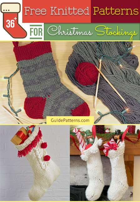 Knitted Christmas Stockings.36 Free Knitted Patterns For Christmas Stockings Guide