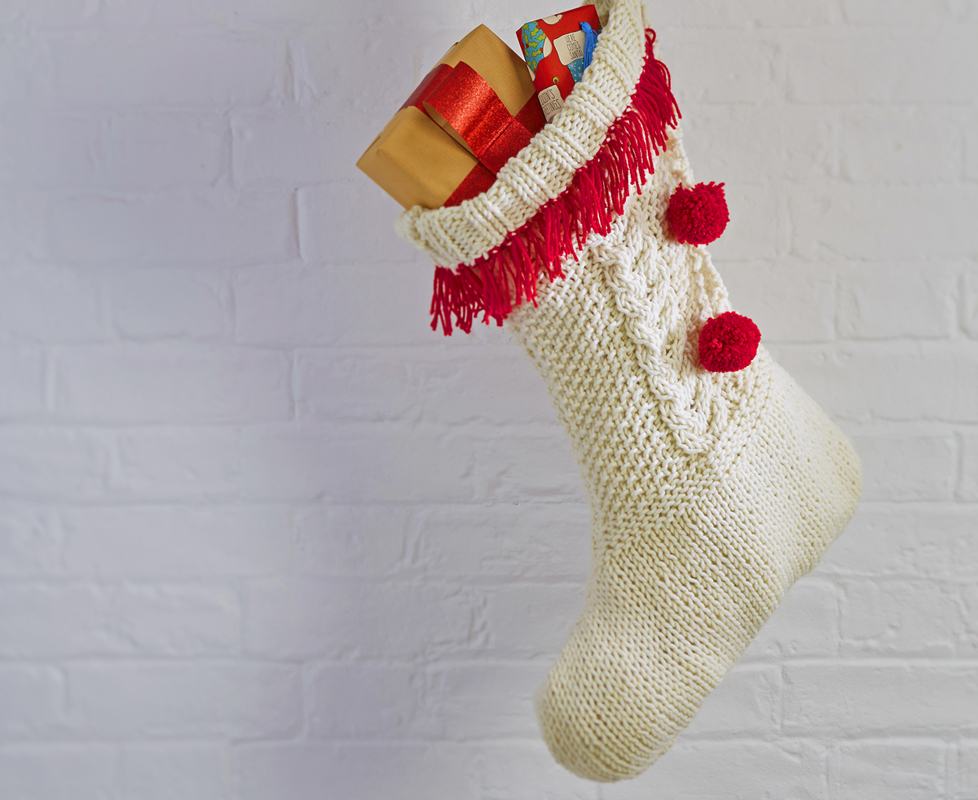 Knitted Christmas Stocking Pattern Free The Millamia Blog Christmas