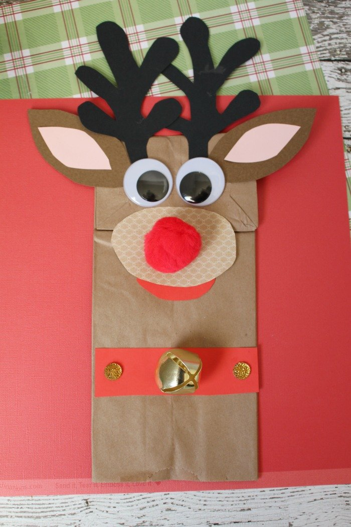 13 Cute Yet Simple Paper Bag Reindeer Guide Patterns