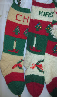 Red Knit Christmas Stockings