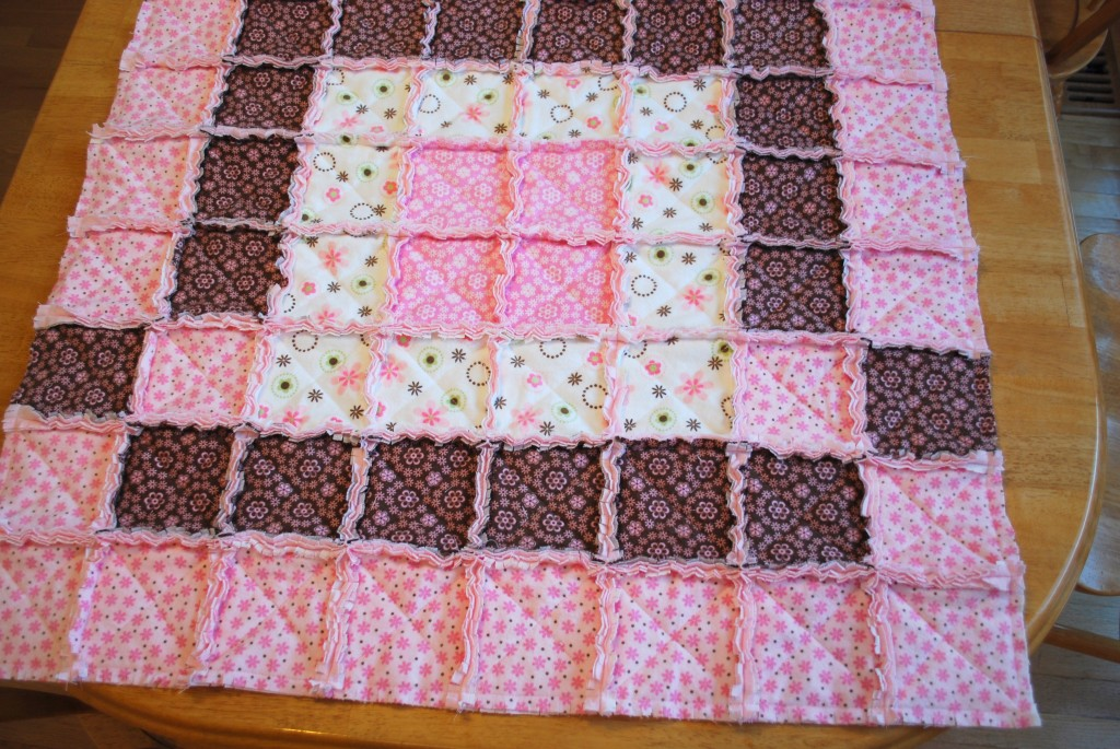 Baby Clothes Rag Quilt Tutorial