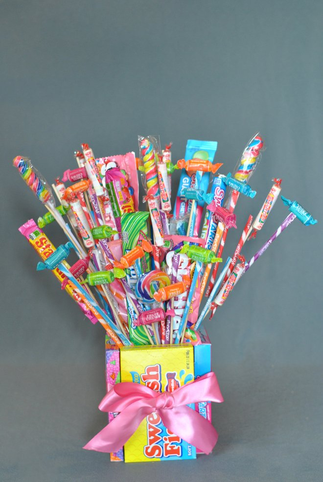 how to make a candy bouquet  57  diy ideas
