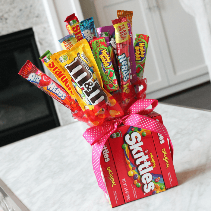 how to make a candy bouquet for birthday