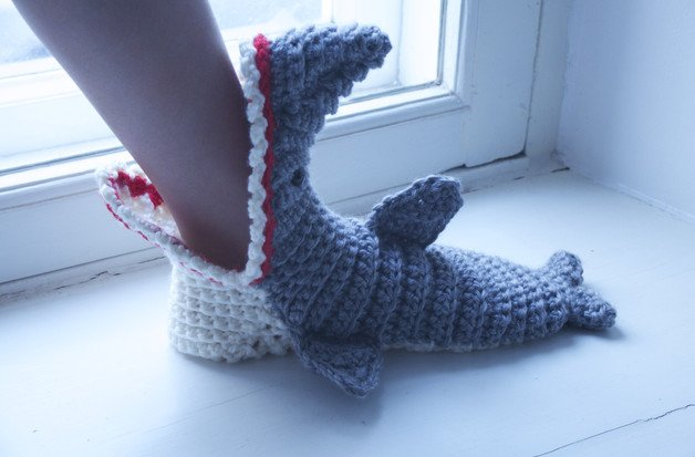 60 Free Patterns For Crochet Shark Slippers Guide Patterns Adorable Crochet Shark Slippers Pattern Free