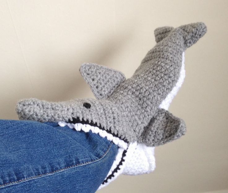 60 Free Patterns For Crochet Shark Slippers Guide Patterns Interesting Crochet Shark Slippers Pattern Free