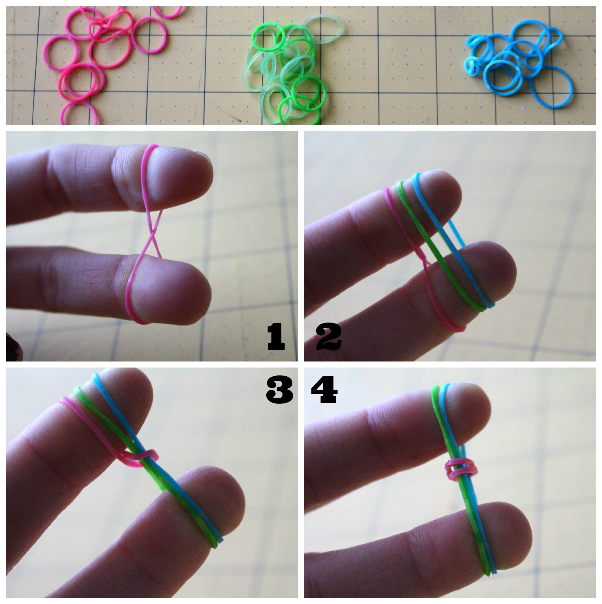 How To Make The Rubber Band Bracelets With Your Fingers