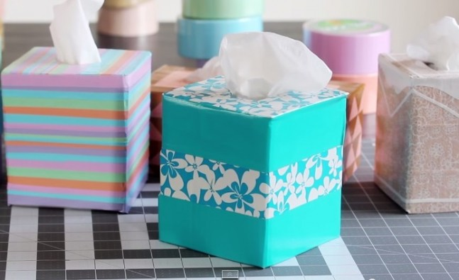 Teal Tissue Box Cover