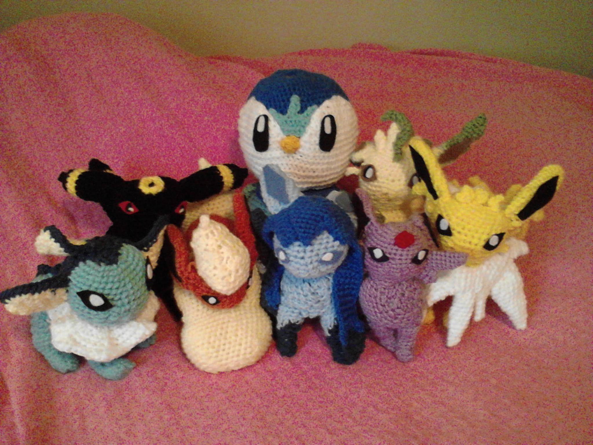 The Eeveelutions that started it all...I crocheted Eevee and all ... | 1536x2048