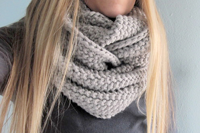Free Knitting Patterns For Infinity Scarves Bonito Free Knitting