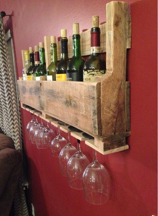 How to make a wood pallet wine rack 22 diy plans guide for How to make a wine rack out of pallet wood