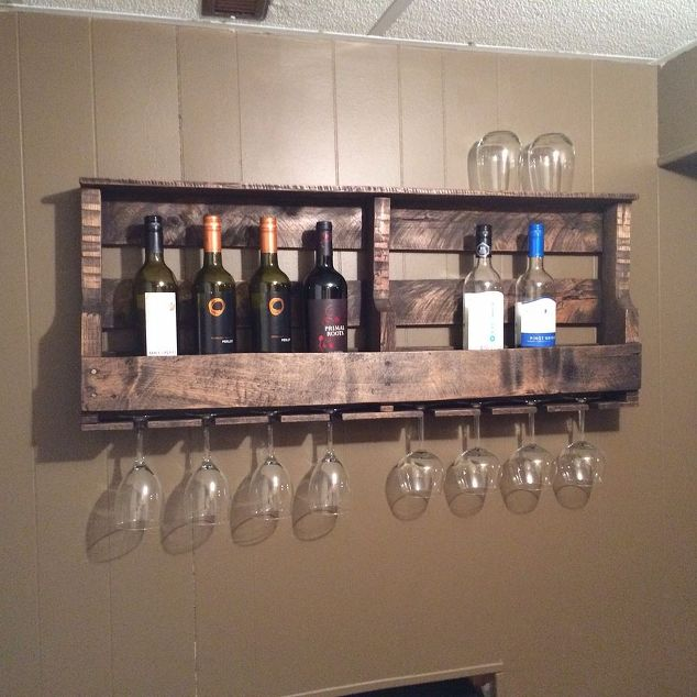 How to Make a Wood Pallet Wine Rack 22 DIY Plans Guide Patterns