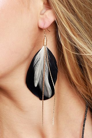 How To Make Feather Earrings With Long Chains