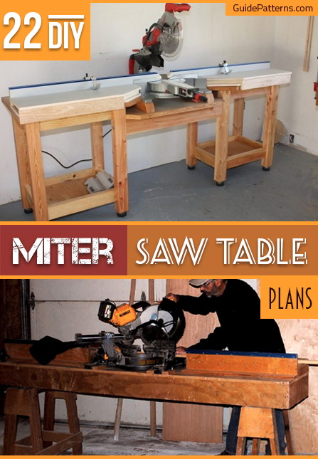 16 Diy Miter Saw Stands For Diy Woodworkers The Self