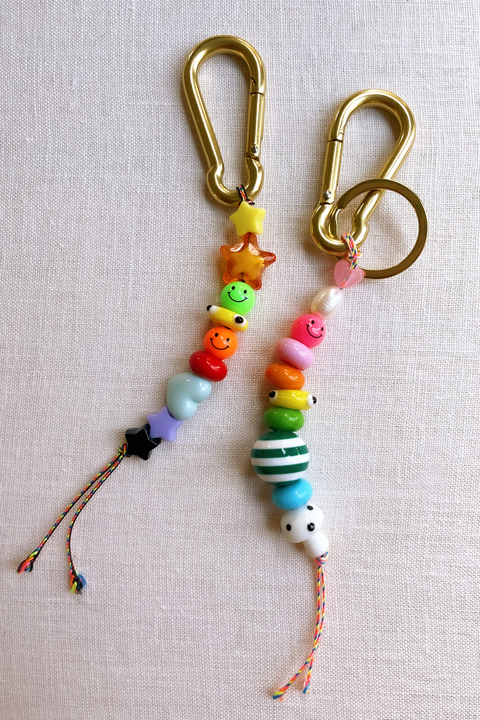 how to make pony bead keychains