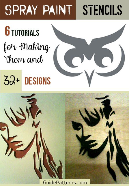 Spray Paint Stencils: 6 Tutorials for Making Them and 32+