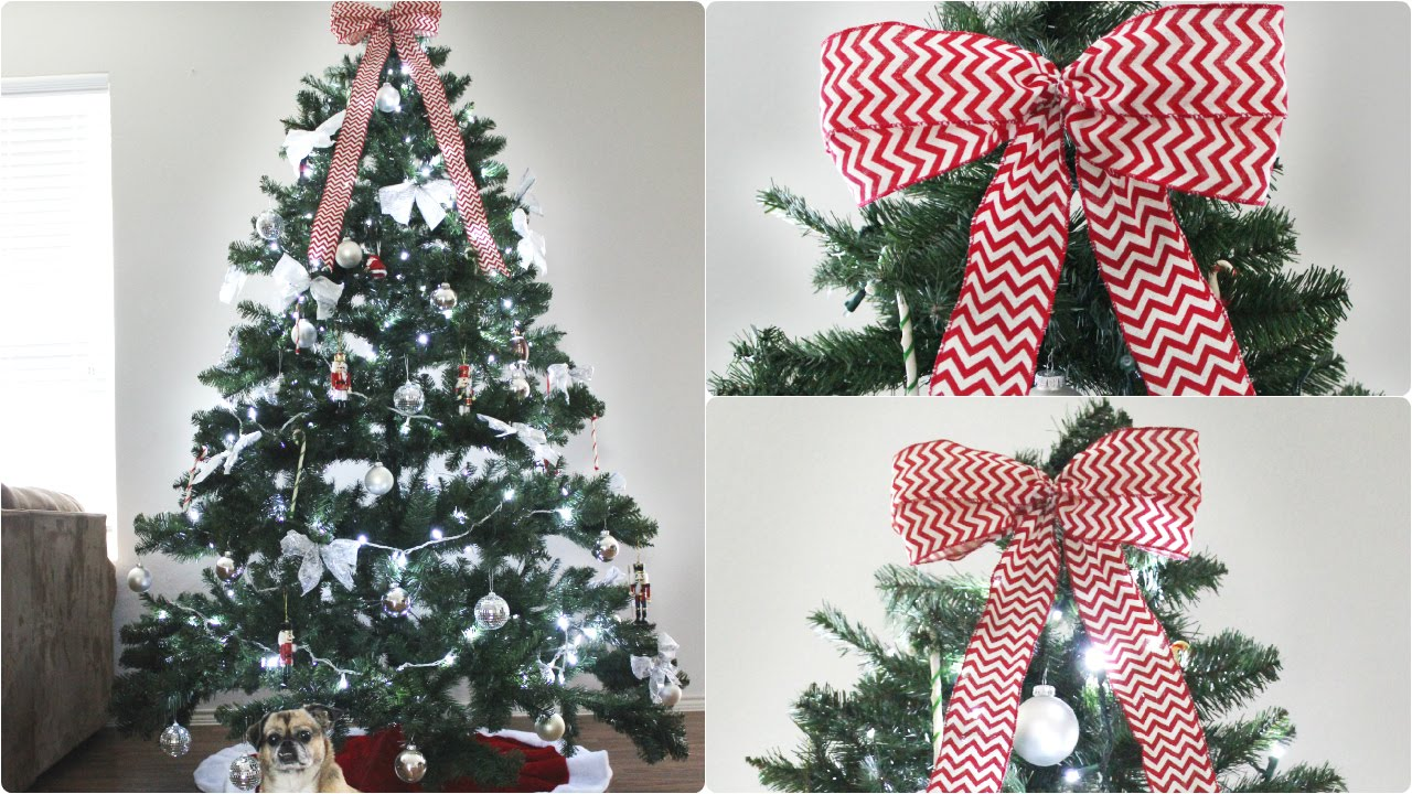 13+ Ways To Make A Christmas Tree Bow Topper