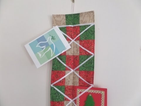 29 Diys To Make A Christmas Card Holder Guide Patterns