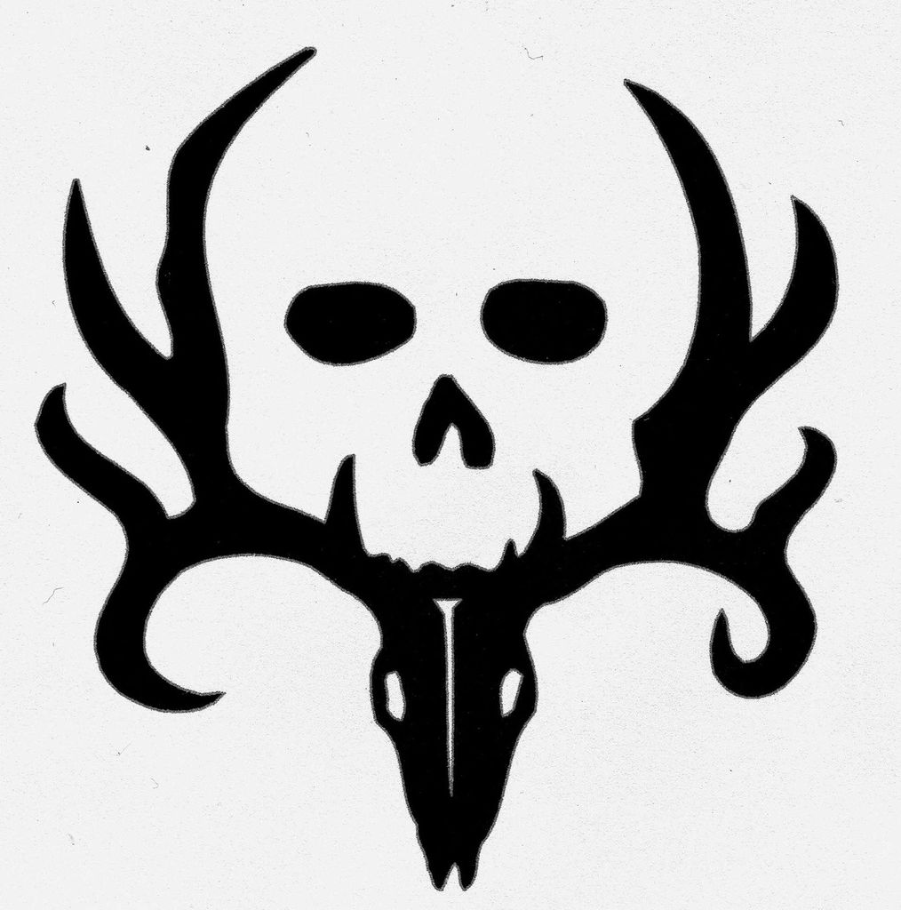 23 Free Skull Stencil Printable Templates | Guide Patterns